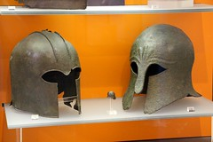 Helmets (demeeschter) Tags: greece delphi archaeological heritage historical ruins unesco parnassus mount ancient oracle museum art theatre stadium temple apollo