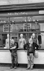 Wolf in sheep's clothing (sasastro) Tags: beards men candid streetphotography peoplewatching shop mono burystedmunds