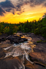 Meandering Rapids (.:: Nelepl ::.) Tags: manitoba canada whiteshell provincial park river rapids autumn summer foliage sunset water rocks canadian outdoors nature boreal prairies bannock point