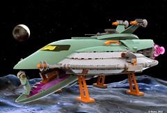 02 RETRO SPACE HERO'S SPACESHIP - Landing and Boarding Mode (Nuno_0937) Tags: lego ideas classic space spaceship ship moc retro hero minifigure