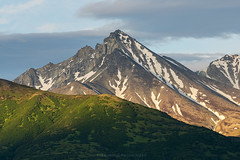 Matanuska Peak (Bob Bowman Photography) Tags: mountain matanuska peak matanuskapeak alaska light sunset green glow mountainside landscape ridge nature clouds