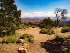 Grand Canyon View_Painterly (tomh2m) Tags: southrim grandcanyon painterly landscape bluesky southwest