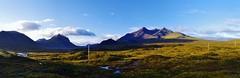 inland pano (Sundornvic) Tags: isle skye scottland island mountains morning light sun shine water rocks wild