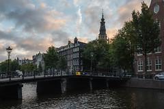 Zuiderkerk, Amsterdam, The Netherlands HDR (Brandon Kopp) Tags: 1635mm architecture d750 hdr nikon sunrise travel amsterdam thenetherlands nederlands holland canals church zuiderkerk bridge morning color