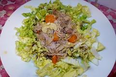 #250818 #almoço #salada de acelga e frango desfiado #lunch #salad and chicken (i cook my meals daily) Tags: lunch almoço salad salada 250818