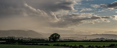 Haziness After The Rain (Glenn Cartmill) Tags: newcastle mountains mournemountains aftertherain clouds tree windmill landscape northernireland countydown uk ireland unitedkingdom glenncartmill august 2018
