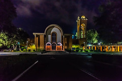 Happy Slider Sunday (Jims_photos) Tags: stjohncatholicchurch sanmarcostexas sanmarcos texas trees topazlabssoftware topazsoftware topazlabs unitedstates outdoor outside adobelightroom adobephotoshop shadows jimallen jimsphotos jimsphotoswimberleytexas lightroom cloudy clouds nopeople nikond750 nightphotos nightshot