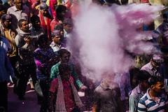Gulal Explosion, Holi in Vrindavan India (AdamCohn) Tags: abeer adamcohn hindu india vrindavan celebration gulal holi pilgrim pilgrimage pink powder अबीर गुलाल होली