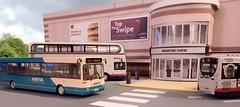 Bus station (kingsway john) Tags: 176 scale diorama model bus station card kingsway models buildings oo gauge