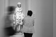 Hora, museum (Stella Bellisario) Tags: photos capture work black white woman women art ellenistic hora museum turin night differences time composition picture portrait