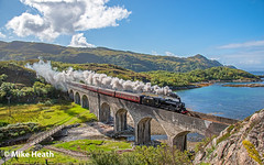 Day 4 - 45157 - West Highland Railway - 3 September 2018  (4) (Mike Heath Photo) Tags: scotland west highlands iron road isles jacobite black 5 five coast railways scottish stean train 45157 45407 the glasgow highlander lms stanier class lochnanumah viaduct