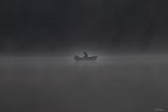 Early Morning Fisherman In Fog (bobban25) Tags: canon eos 80d ef70300mm f456 is usm östergötland sverige sweden scandinavia canoneos80d canon80d vårdnäs rängen lake sjö fog dimma dark ef70300mmf456isusm boat fisherman mist båt