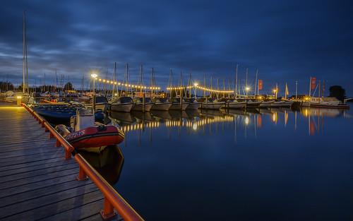 Blue hour at Grou harbor