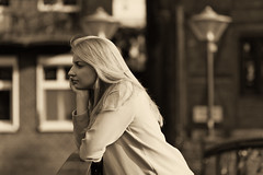 daydreams (bartlomiej.chodyna) Tags: girl woman women poland bridge summer sunset summertime dream dreaming think