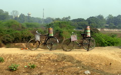 seeing double (kexi) Tags: india asia uttarpradesh 2 two pair bicycles samsung wb690 february 2017 double
