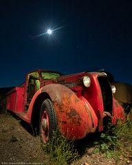 'T' Is For Tank Truck (dejavue.us) Tags: lightpainting longexposure d850 nightphotography nikon vle truck fullmoon tanker nikkor 140240mmf28 diamondt red