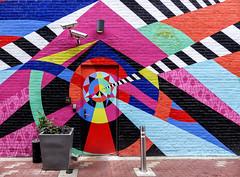 Wall Art (J Wells S) Tags: wallart streetart graphics door alley planter downtown urban cincinnati ohio explore inexplore