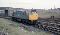 Falkland Yard 27059 reverses into sidings early 80's c694 (Ernies Railway Archive) Tags: ayr falklandyard gswr lms scotrail