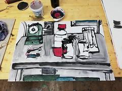Und schon waren sie sieben (raumoberbayern) Tags: robbbilder acryl acrylic sketch sketchbook skizzenblock tusche drawing painting malerei carnetdecroquis anspitzer
