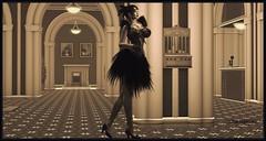Miss Sassafras (Moxxie Kalinakova) Tags: retro 1920 vintage sepia flapper vamp elegant sexy brunette moxxie monchrome kalinakova