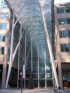 Brookfield Place (formerly BCE Place) - Allen Lambert Galleria  - Crystal Palace - Toronto Ont - Canada