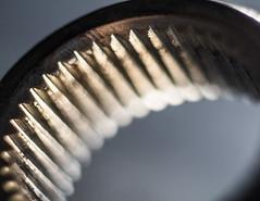 daggercog (fe2cruz) Tags: macromondays 11 90mm adaptall2 cogwheel emount gold ilce macrocloseup sony a7r alpha closeup f25 internalgear lessthan1inch macro mirroless ratchet tamron α7r beyondbokeh