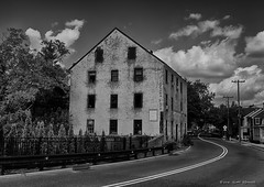 The Old Mill (scottnj) Tags: 365the2018edition 3652018 day262365 19sep18 mill oldmill allentown nj newjersey 365project scottnj bw blackandwhite monochrome leadingline road couds sky scottodonnellphotography monmouth monmouthcounty