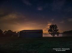 Lawson Barn and Tree- (Inspire One Photography by Darwin White) Tags: milkyway stars nightscene nightphotography historical greatsmokymountainsnationalpark cadescove darwinwhitephotography