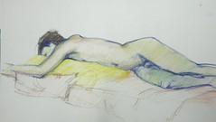 Life drawing - male model (dibujandoarte) Tags: pastelpencil lapices pastels lifedrawing modelovivo dibujo drawing sktetch croquis modelevivant dessin disenho humanfigure figurahumana