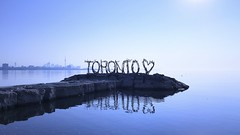 (shahzad.alvi) Tags: apple iphone takenfromiphone blue water fall summer friday view beautiful cntower gta canada ontario lake toronto love
