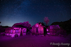 044-Keys_Ranch_Night-008 (Beverly Houwing) Tags: keysranch billkeys earlysettlers desert mining barn schoolhouse cabin ranching joshuatreenationalpark desertqueenranch outpost equipment home shed cars cemetery oreprocessing california yuccavalley 29palms night sky stars lightpainting pink