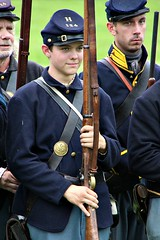 SOLDIER BOY (MIKECNY) Tags: boy soldier union north uniform civilwar rifle musket gun civilwarweekend hat grantcottage wilton