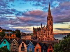 Cobh, Ireland (_lyz_) Tags: cobh cork dublin belfast dundalk galway game trones irlanda church iglesia cathedral catedral huizen casas houses colorful colourful colorido cloudy nubes nublado colores irish irlandes queenstown