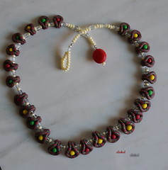 FOR A LITTLE GIRL (Fimeli) Tags: halskette necklace polyclay polymerclay beads glasperlen colors handmade handwo