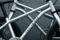 Twins (tom.leuzi) Tags: 50mm bw canoneos6d dof sigma50mmf14art sigmaart bicycle blackandwhite blurred bokeh monochrome schwarzweiss fahrrad bike kinderfahrras belt earlyrider twins wideopen