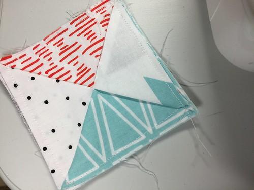 sewn coaster - fabric coasters