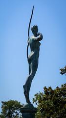 Actaeon's Mistake (dayman1776) Tags: brookgreen gardens south carolina garden sculpture sculptor statue escultura skulptur beautiful manmade sony a6000 female nude figurative figure bronze diana goddess mythology myth bow arrow
