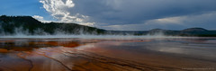 Grand Prismatic Pano (CindyFullwiler Nature Photography) Tags: yellowstone grand prismatic geyser pool fire tour ring