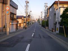 An empty street (しまむー) Tags: panasonic lumix dmcgx1 gx1 g 20mm f17 asph trip train yuri highland railway 由利高原鉄道
