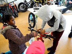 building bikes with Fast Freddie Foundation (citymaus) Tags: fast freddie foundation bike eastbay emeryville oakland kids bikes children lowincome low income housing affordable bicycle specialized