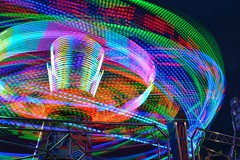 Orbiter Light Trail (gemgem_st@hotmail.co.uk) Tags: circles rainbow colourful colour light lighttrails carnival funfair orbit