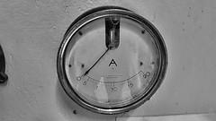 ampèremètre funiculaire 3 (sebastien.demotier) Tags: funiculaire ancien montdore rails auvergne france ancient vieux noir blanc black white blacknwhite