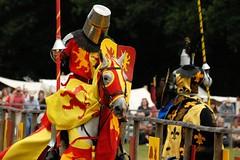 Sir Thomas of Loxwood vs Sir Kenneth (Puckpics) Tags: joust loxwood loxwoodjoust riding skill entertainment sirthomasofloxwood westsussex reenactment livinghistory england