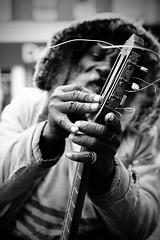 IMG_6231 (JetBlakInk) Tags: afro brixton busker juxtaposition mono portrait streetphotography guitar hardknocklife hardtimes