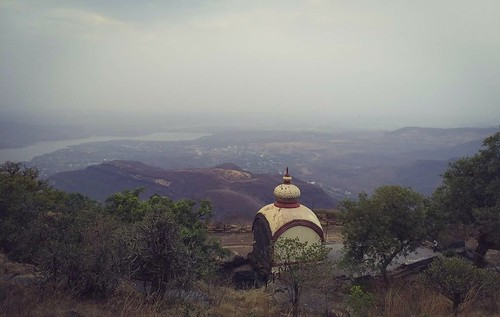 View atop Sinhagad Fort, Pune, India