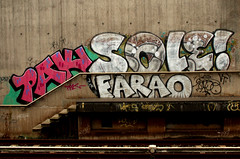 graffiti in Amsterdam (wojofoto) Tags: amsterdam nederland netherland holland graffiti streetart wojofoto wolfgangjosten holendrecht pak sole farao