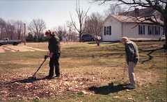 Metal detecting with adult supervision (rentavet) Tags: analog konicacenturia400asa olympusstylus80 9441