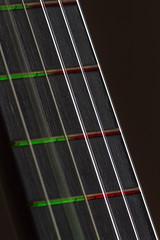 electric guitar (dareangel_2000) Tags: dariacasement guitar lights fretboard guitarstrings closeup coloured red green