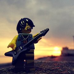 This guy will rock out anywhere. (craigslegostuff) Tags: cmf lego minifig minifigure collectible outdoor outdoors hove brighton sussex beach seafront afol guitar music musician guitarist legoguitar sunset hovesunset rock rocker busk busker busking hovebusker electricguitar