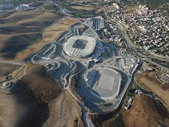 Tizi-Ouzou Stadium (Blackwhite1903) Tags: tiziouzou stadium stade stadyum construction inşaat mng structure roof engineering building algeria north africa sport venue football project progress airview drone aerial birdeye airphoto flycam sky view dji mavic cezayir algerie turkish work